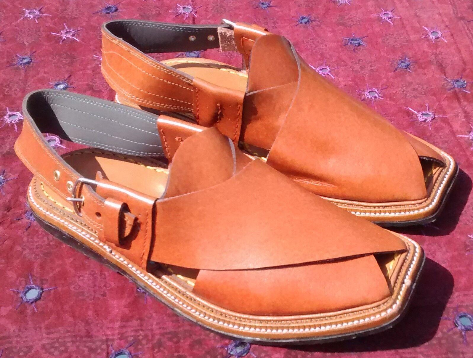 Pesahawari Handmade Elegant Leather Eid Chappel Brown Sandal UK 9 9 9 cfc701