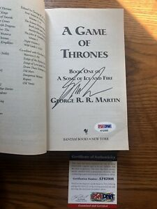 Game-of-Thrones-Autograph-George-RR-Martin-Signed-Book-R-R-Auto-GOT-PSA-DNA-COA