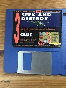 Amiga-Power-Magazine-cover-disk-33-Seek-amp-Destroy-Clue-TESTED-WORKING