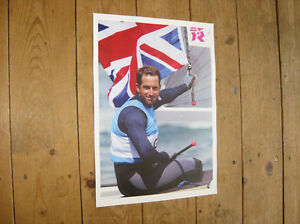 Ben Ainslie Sailing Olympic Legend Great New Poster #1 Sports Memorabilia