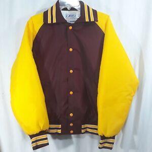 Vintage-Burgundy-Gold-Nylon-NEFF-Jacket-Snap-Up-Mens-M-Hipster-Greenville-OH