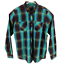 INC-International-Concepts-Mens-Button-Up-Shirt-Blue-Aqua-Plaid-Long-Sleeves thumbnail 5