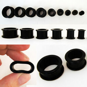 Pair-Soft-Gauge-Ear-Flexible-Silicone-Flesh-Tunnel-Double-Flared-Plug-Earlets