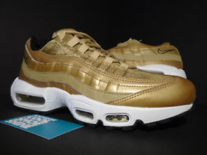 best sneakers 3aaa3 e6afa Image is loading NIKE-AIR-MAX-95-PREMIUM-QS-METALLIC-GOLD-