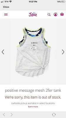 NWT JUSTICE GIRLS CINCHED SIDE 2FER TANK /& CINCHED SHORTS SIZE 10 SET