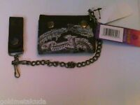 Hogwarts Harry Potter Tri-fold Wallet Black Silver Brand With Tags Chain