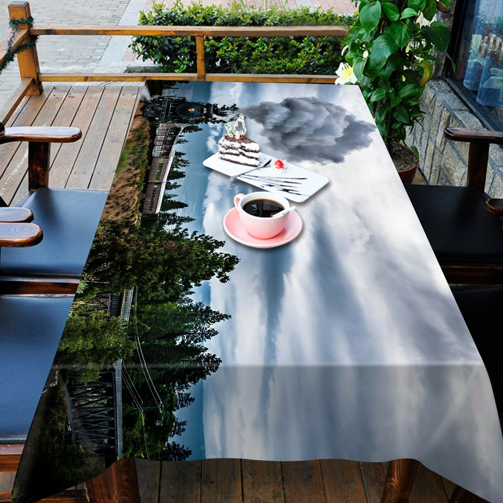 3D Funnel 4645 Tablecloth Table Cover Cloth Birthday Party Event AJ WALLPAPER AU