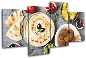 Arabic-Ramadan-Falafel-Eid-Food-Kitchen-MULTI-CANVAS-WALL-ART-Picture-Print