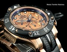 Invicta 50mm Subaqua Poseidon Quartz Chronograph Rose & Black Bracelet SS Watch