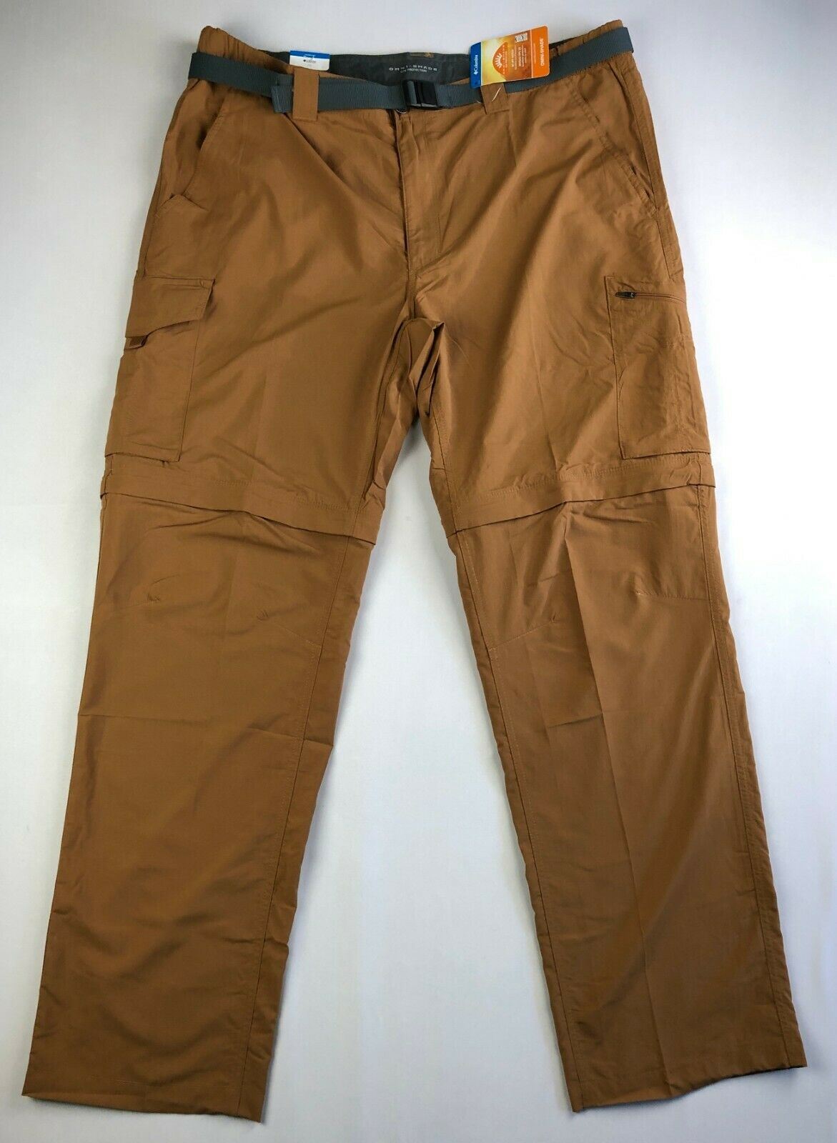W38//L32 Walking Trousers Silver Ridge II Columbia Pantal/ón de Excursionismo Convertible para Hombre Marr/ón Tusk