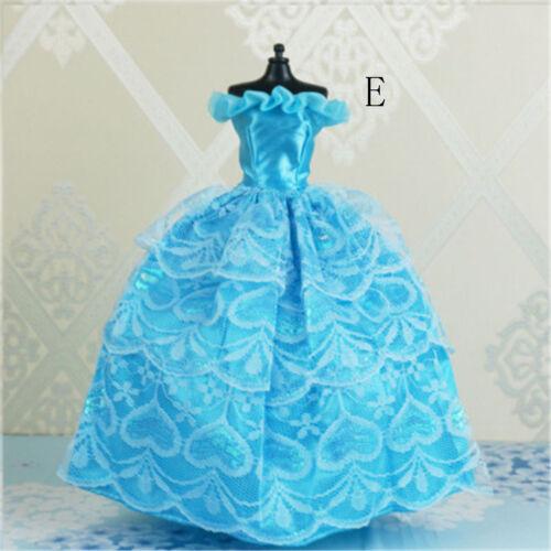 Handmade Princess Wedding Party Dress Clothes Gown For  Dolls PLÖÖB vv