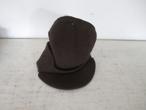 00518dc962a Men s Beanie Hat Billed Knit Cap w cuff Double Layered Visor Winter ...