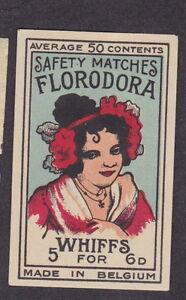 Ancienne étiquette allumette Belgique BN20082 Femme Florodora zd4oWwj6-09091117-944490652