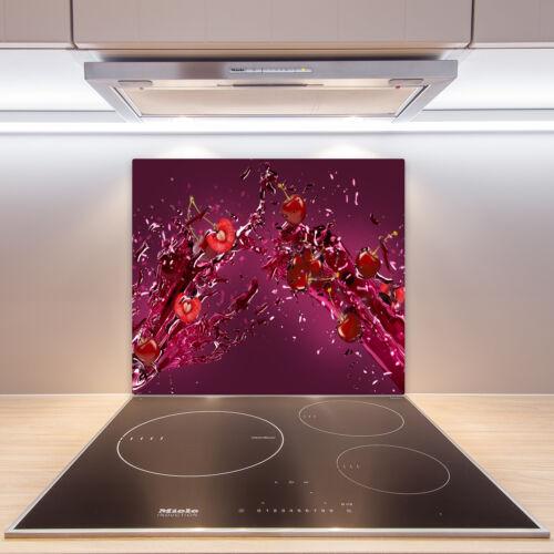 Herdabdeckplatten aus Glas Spritzschutz Kirschen Saft 60x52 cm