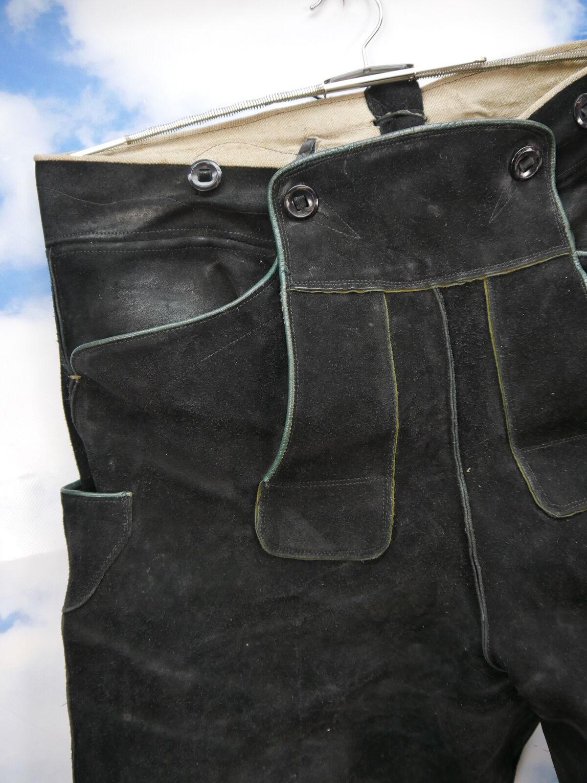 Vintage Lederhose Lederhose Lederhose Kniebund schwarz ohne Verzierungen sehr schwer Gr.54 | Up-to-date-styling  83f513