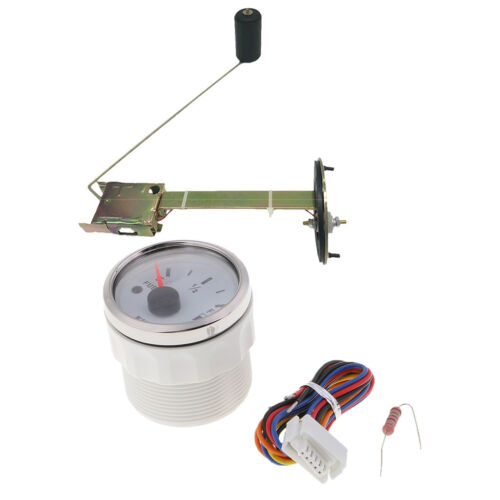 "Universal 2/"" Boat Fuel Level Gauge Meter With Fuel Sensor E-1//2-F Pointer"