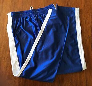Men/'s Basketball Tear Away warm up pants  XL 2XL Red Green royal  Blue NEW