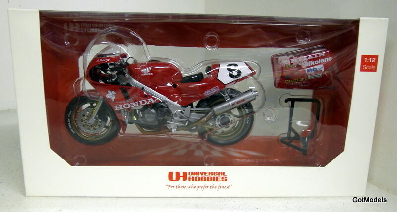 UH 1 12 12 12 SCALA UH4822 HONDA RC30 Tourist Trophy Carl Fogarty Moto modello diecast 8e6065