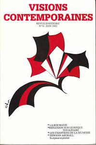 Livre-visions-contemporaines-la-Roumanie-revue-d-039-histoire-no-6-1992-book