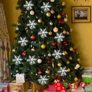 Decoracion-de-Navidad-Arbol-de-Navidad-Copo-de-nieve-Adornos-colgantes