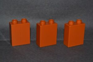 1X2 tall bricks combined shipping lot of 3 beige Duplo blocks