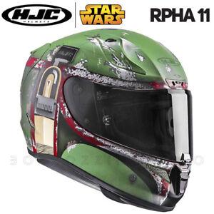CASCO INTEGRALE MOTO RACING FIBRA HJC RPHA-11 STAR WARS BOBA FETT MC4SF OPACO
