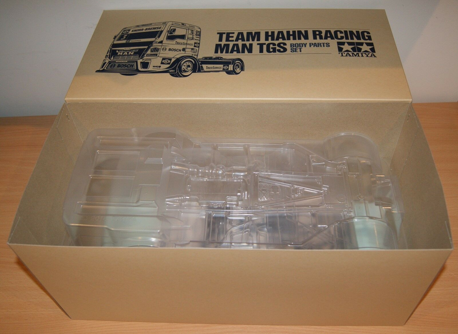 Tamiya 51606 Team Hahn Racing Man TGS Body Parts Set (TT01 TT01E TT02), NIP