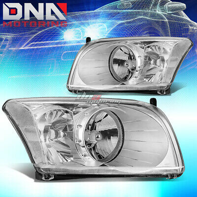 For 07-12 Dodge Caliber Smoked Housing Clear Side Headlight//Lamp Set Replacement