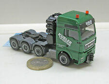 "Herpa 305693/1:  MAN TGX XXL 8x4 Sattelzugmaschine  ""Kübler"""