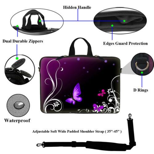 """17.3/"""" Laptop Computer Sleeve Case Bag w Hidden Handle /& Shoulder Strap  2702"""