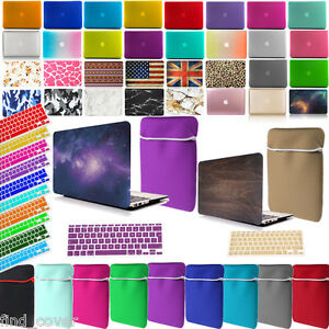 Bundle-Rubberized-Hard-Case-Neoprene-Sleeve-Keyboard-Cover-For-Apple-Macbook