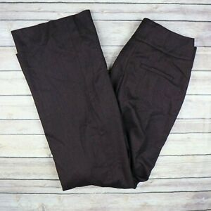 New White House Black Market Women's The Wide Leg Pants Size 4 Burgundy $99 MSRP