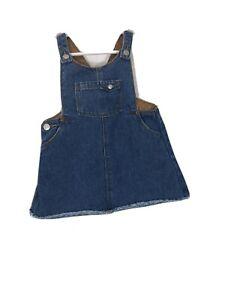 Zara Baby Girl Size 9-12M Cute Denim Overall Bib Jean ...