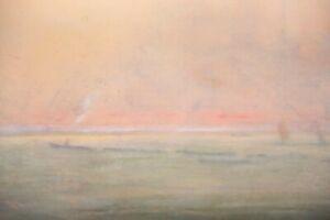 Tableau Pastel impressionniste Venise ou bord de Seine?