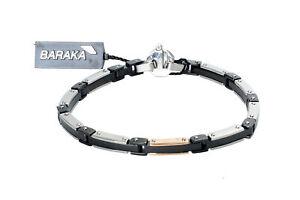BARAKA Men's BR251131ROAD220002 White Diamond Gold Stainless Steel Bracelet