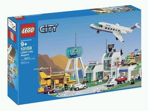 Lego 10159 City Flughafen Flugzeug Reise Urlaub Ozean Strand