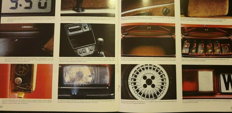 Brochure, VW Santana