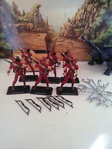 Snake Eyes Vs Red Ninja Troopers Ensemble: (6) 2008 Cobra (v3): 100% Cmp
