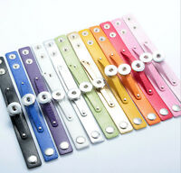 Leather Bracelets Drill fit For Noosa 18MM Snaps Chunk Charm Button