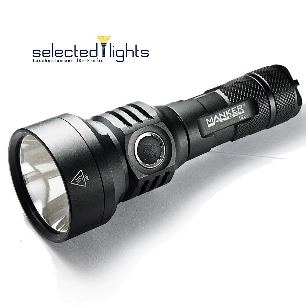 Selected-lights Manker Akku U22 Bundle inkl. 21700er Akku Manker 1500 Lumen der Mini Thrower 3ef6cd