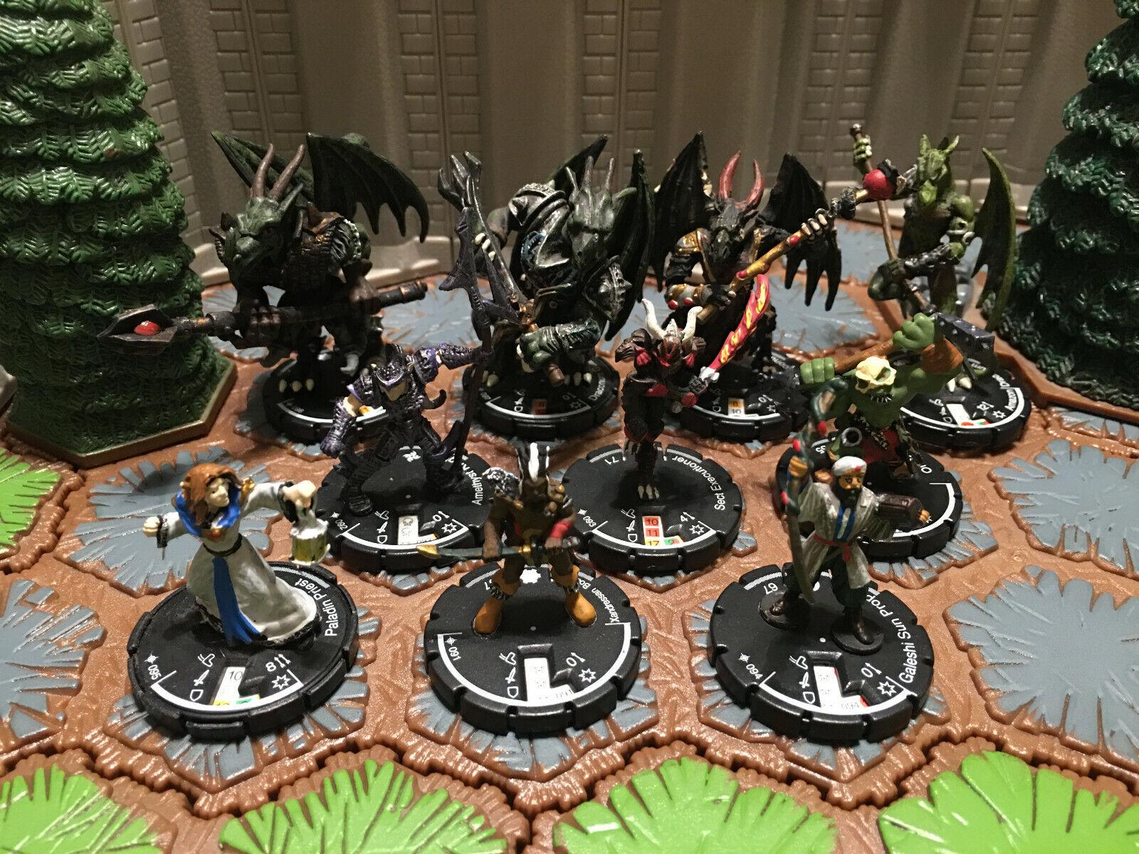 10 Figure Unique Set Mage Knight Minions D&D, Pathfinder, RPG, Clix