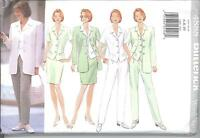 Butterick 4888 Misses'/miss Petite, Jacket, Top, Skirt And Pants 6, 8,10