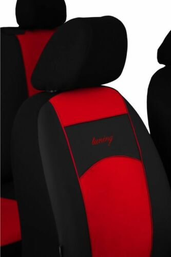 i20 Universal Red //Black Eco-Leather Full Set Car Seat Covers for Hyundai i10