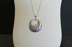 Serenity prayer pendant on sterling silver necklace serenity image is loading serenity prayer pendant on sterling silver necklace serenity mozeypictures Images