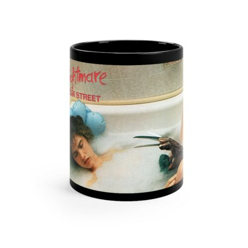A Nightmare On Elm Street Nancy in the Tub  Black mug 11oz
