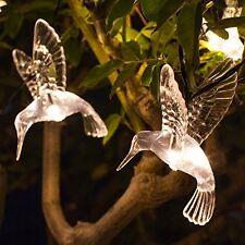 10 Caldo Bianco LED Hummingbird Giardino Energia Solare Lucine da lights4fun