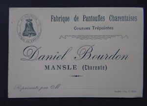 Image Is Loading Carte De Visite Slipper Charentaise Mansle Charente Bumblebee