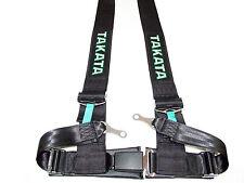 "Takata DRIFT III 4 Point Bolt-On 3"" Racing Seat Belt Harness (Black)"