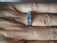 Electric Bluetopaz Ring, 1.36 Carats, Size N/o, In 3.6 Grams Of 925 Sterling Sil
