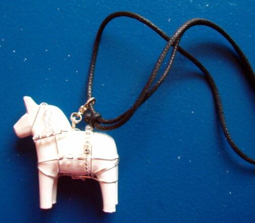 Dalarnapferd 5 cm dalapferdchen con colgante como cadena
